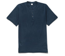 Slim-fit Cotton-jersey Henley T-shirt