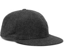 Herringbone Virgin Wool-blend Baseball Cap