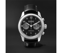 ALT1-Classic/PB Automatic Chronograph 43mm Stainless Steel and Alligator Watch, Ref. No. ALT1-C/PB, Ref. No. ALT1-C/PB
