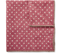 Polka-dot Wool Pocket Square