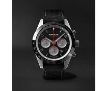 TimeWalker Manufacture Limited Edition Automatic Chronograph 43mm Coated Stainless Steel, Ceramic and Nubuck Watch, Ref. No. 124073
