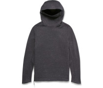Funnel-neck Cotton-blend Tech Fleece Hoodie