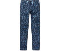 Cuban-fit Star-print Denim Jeans