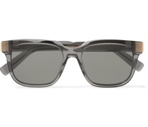 Square-Frame Acetate and Gold-Tone Sunglasses