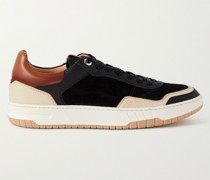 Court Elite Lux Suede and Leather Sneakers