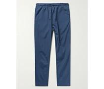 Haven Cotton-Poplin Drawstring Trousers