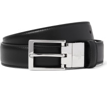 3cm Black And Brown Reversible Leather Belt