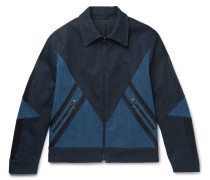 Panelled Stretch-denim Jacket
