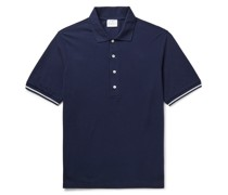 Contrast-Tipped Cotton-Piqué Polo Shirt