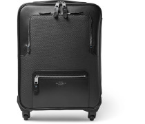 Greenwich Lacquered-cotton And Leather Carry-on Suitcase