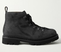 Bobby Distressed-Leather Boots