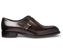 Benedict Burnished-Leather Monk-Strap Shoes