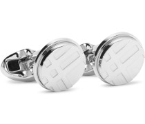 Checked Silver-tone Cufflinks