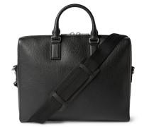 Black Grained-leather Briefcase