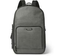 Herringbone Coated-canvas Backpack