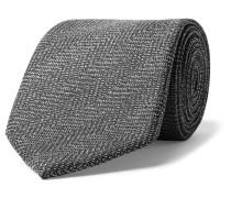 8cm Herringbone Mohair And Wool-blend Tie