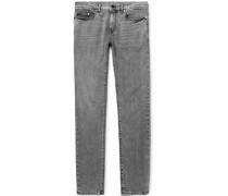Skinny-fit 15cm Hem Acid-washed Stretch-denim Jeans