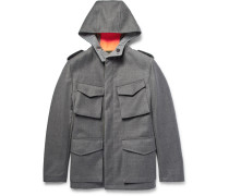 Reversible Wool And Shell Hooded Field Jacket
