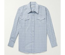 Ranch Oversized Checked Woven Western Shirt