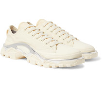 + Adidas Originals Detroit Runner Rubber-trimmed Canvas Sneakers