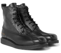 Pebble-grain Leather Boots