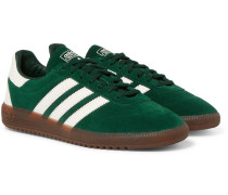 Intack Spezial Faux Leather-trimmed Suede Sneakers