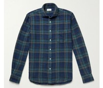 Paul Double-Faced Checked Cotton-Flannel Shirt