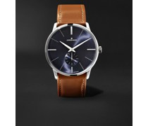 Meister Handaufzug 37.7mm Stainless Steel and Leather Watch, Ref. No. 027/3504.00