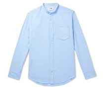 Justin Grandad-Collar Cotton Oxford Shirt