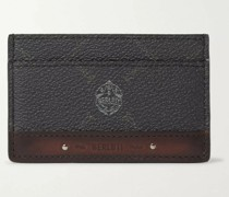 Signature Logo-Print Canvas and Leather Cardholder