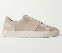 Larry Suede-Trimmed Canvas Sneakers