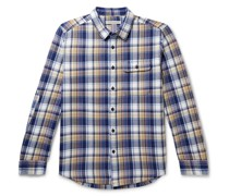 Rambler Checked Organic Cotton-Flannel Shirt