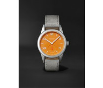 Club Campus Hand-Wound 36mm Stainless Steel and Leather Watch, Ref. No. 710