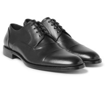 Studded Cap-toe Leather Derby Shoes
