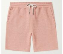 Lucaya Slim-Fit Textured Cotton-Blend Drawstring Shorts