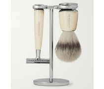 Safety Chrome and Resin Three-Piece Shaving Set