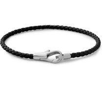 Knox Woven Leather and Sterling Silver Bracelet
