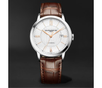 Classima Automatic 40mm Stainless Steel and Alligator Watch, Ref. No. M0A10263