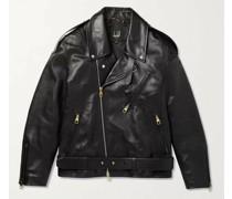 Duke Oversized Belted Leather Biker Jacket
