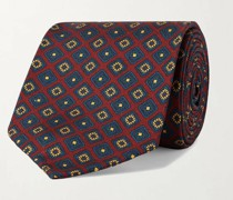 8cm Printed Silk-Twill Tie