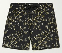 Mistral Embroidered Mid-Length Swim Shorts
