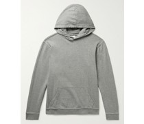 Garment-Dyed Mélange Loopback Cotton-Jersey Hoodie