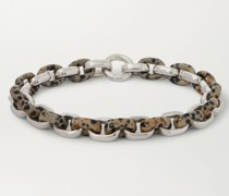 Sterling Silver Dalmatian Quartz Bracelet