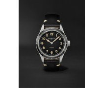 1858 Limited Edition Automatic 40mm Stainless Steel and Leather Watch, Ref. No. 126760