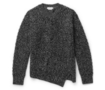 Cable-Knit Mélange Wool and Cashmere-Blend Sweater