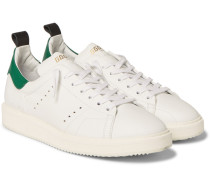 Starter Contrast-trimmed Leather Sneakers