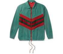 Webbing-Trimmed Shell and Washed-Cotton Track Jacket