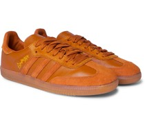 + Jonah Hill Samba Embroidered Suede and Leather Sneakers