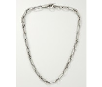 Trio Linka Burnished Sterling Silver Chain Necklace