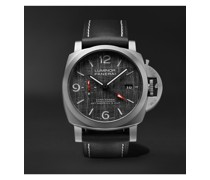Luminor Luna Rossa Challenger Automatic GMT and Flyback Chronograph 44mm Titanium and Leather Watch, Ref. No. PAM01036